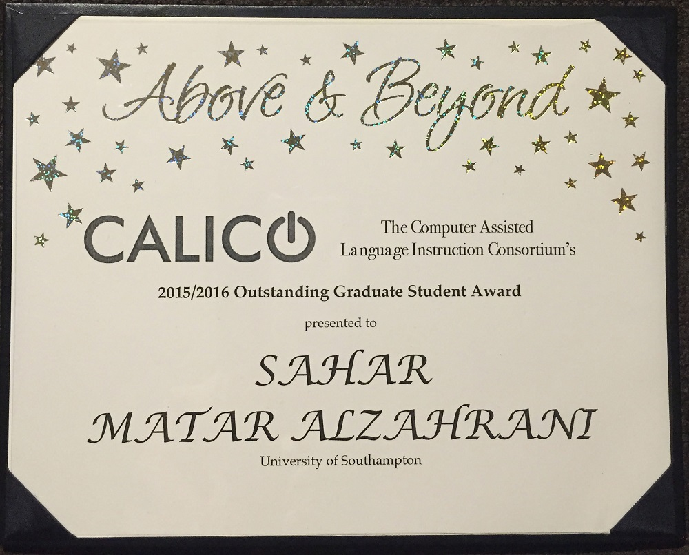 Modern Languages PhD student wins CALICO Outstanding Graduate Student Award