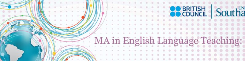 Student Life: An internship with the MA in ELT: Online
